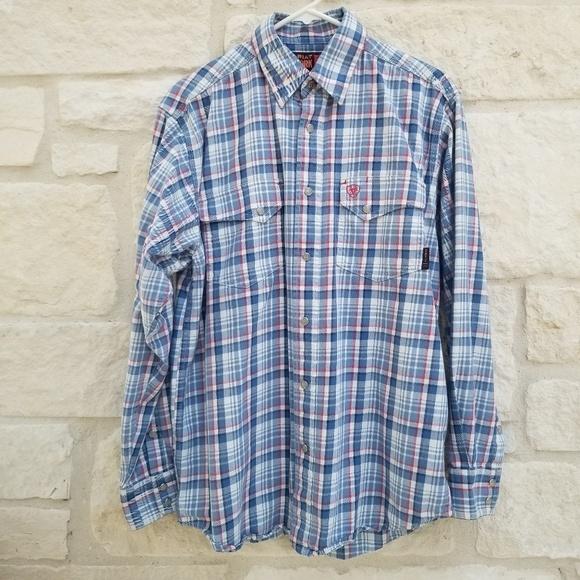Ariat Other - Ariat FR Karnes SnapWork Shirt size Medium